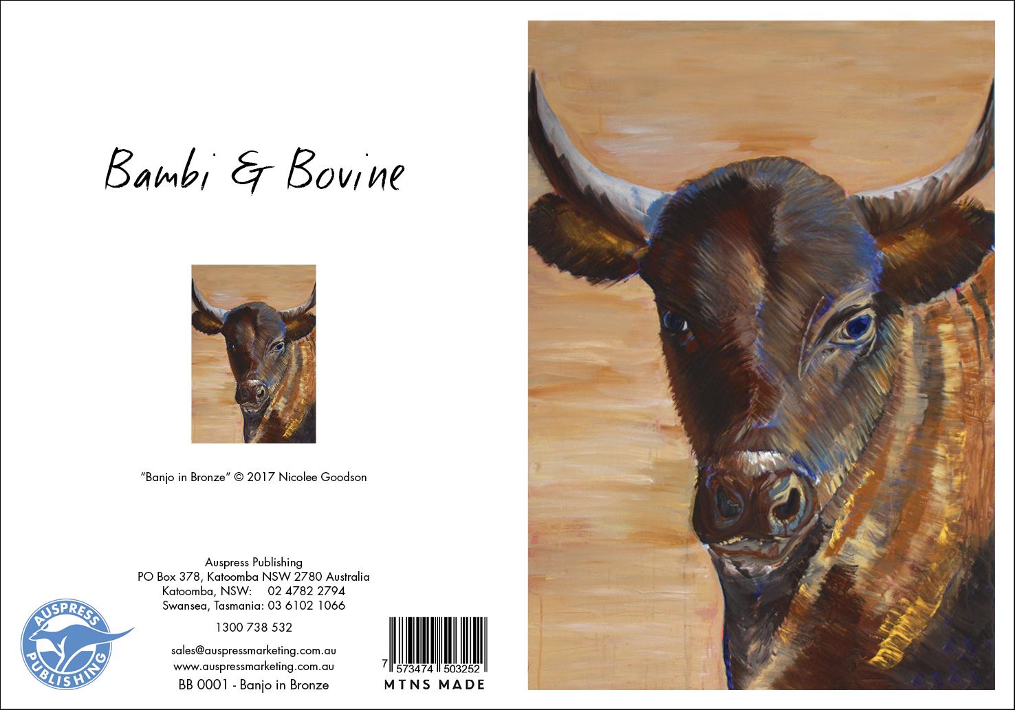 Bb001 Banjo In Bronze Greeting Card